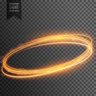 Neon transparante gouden licht effect achtergrond