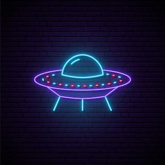 Neon ufo-teken.