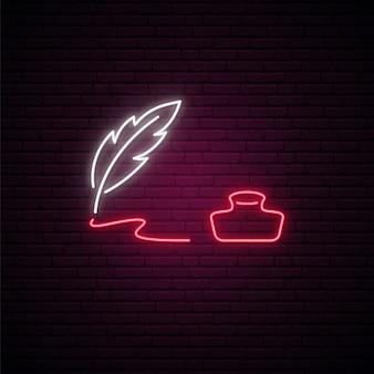 Neon uithangbord voor wereldpoëzie