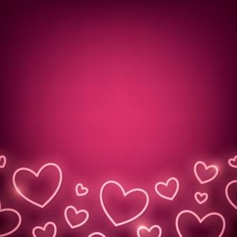 Neon valentijnsdag illustratie