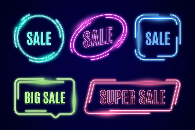 Neon verkoop teken collectie
