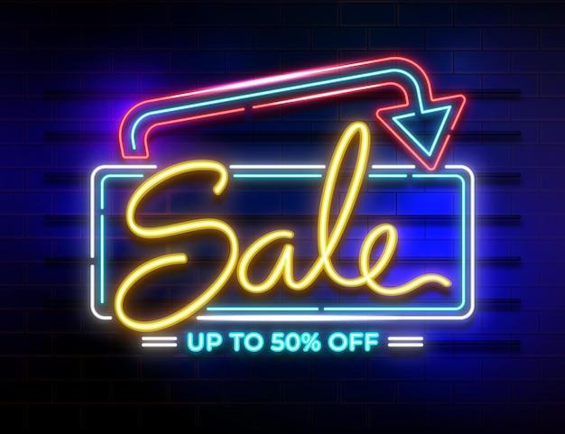 Neon verkoop teken
