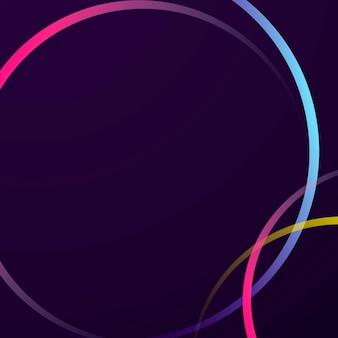 Neon verloop kromme frame sjabloon
