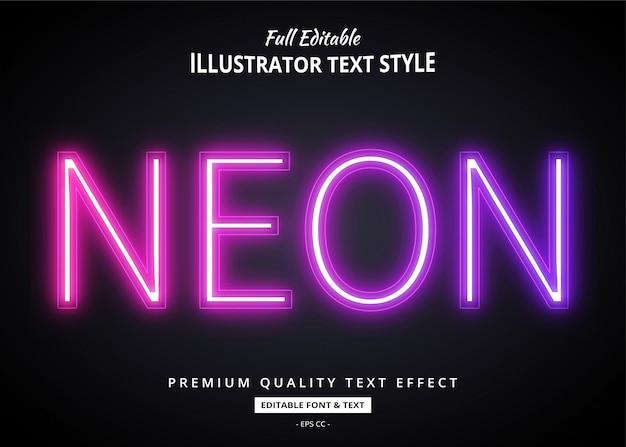 Neon verloop teksteffect