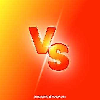 Neon versus achtergrond met moderne stijl