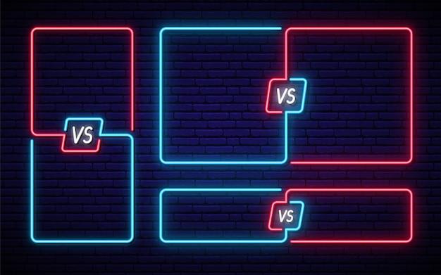 Neon versus set.