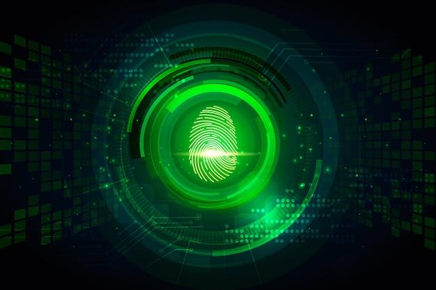 Neon vingerafdruk achtergrond concept