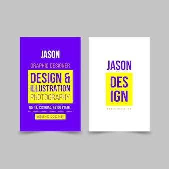 Neon visitekaartjes concept