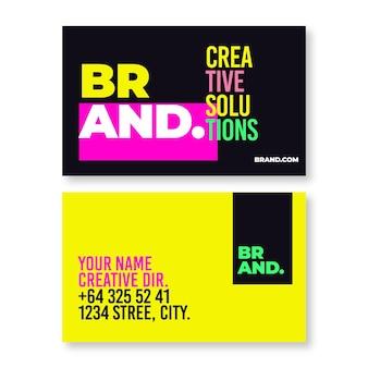 Neon visitekaartjes pack