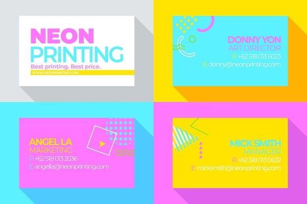 Neon visitekaartjes