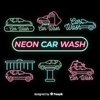 Neon wasstraat teken collectie
