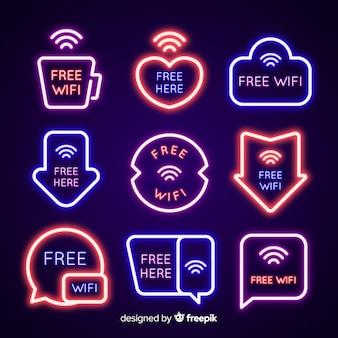 Neon wifi-signaalcollectie