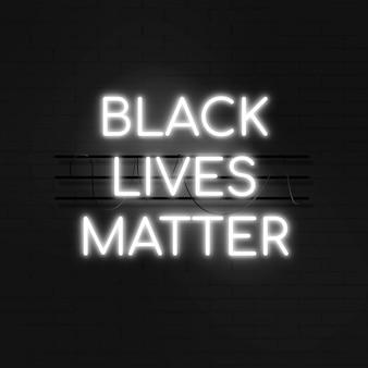 Neon zwarte levens zijn belangrijk teken