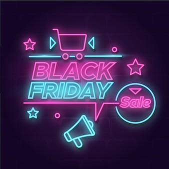 Neon zwarte vrijdag concept