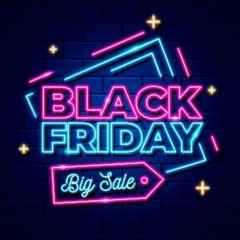 Neon zwarte vrijdag evenement