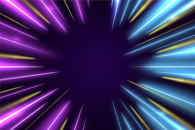 Neonachtergrond met rechte lijnen