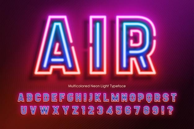 Neonlicht alfabet