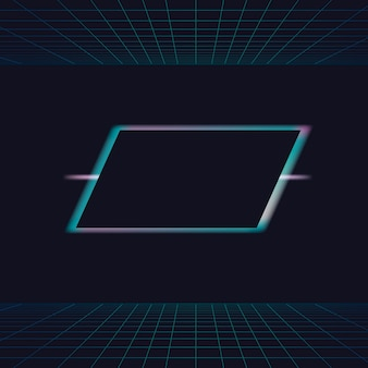 Neonlicht frame