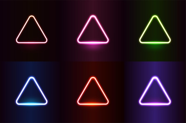 Neonlichteffect vormt kleurrijk realistisch