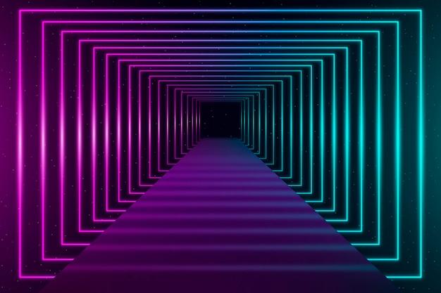 Neonlichten achtergrond concept