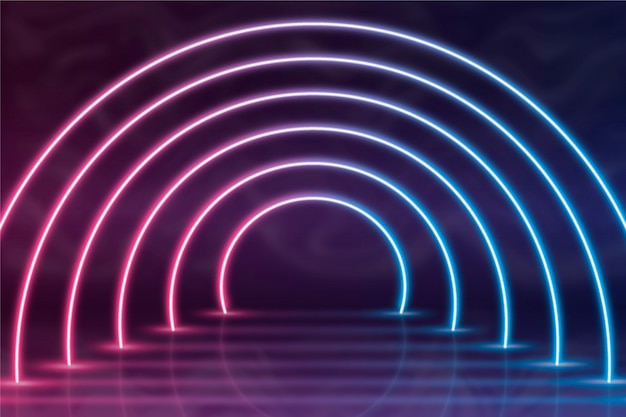 Neonlichten achtergrond