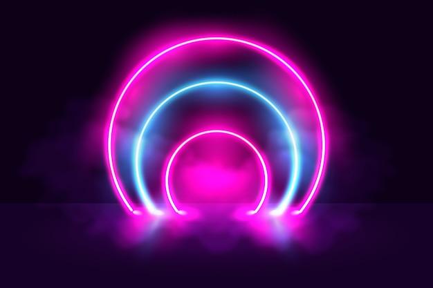 Neonlichten achtergrondconcept