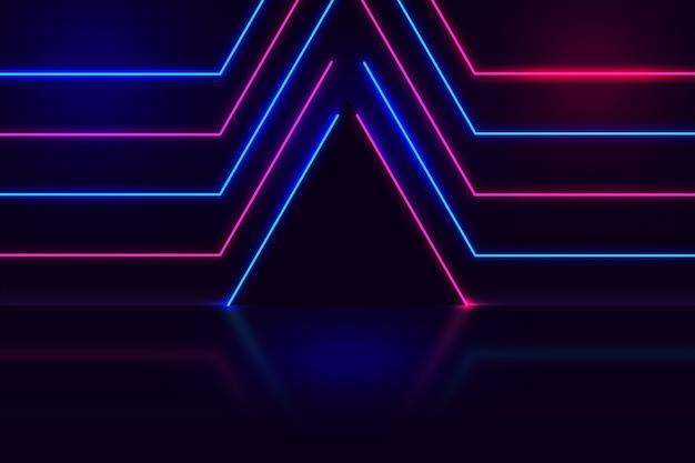 Neonlichten achtergrondontwerp