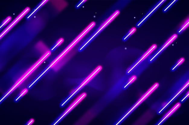 Neonlichten behang