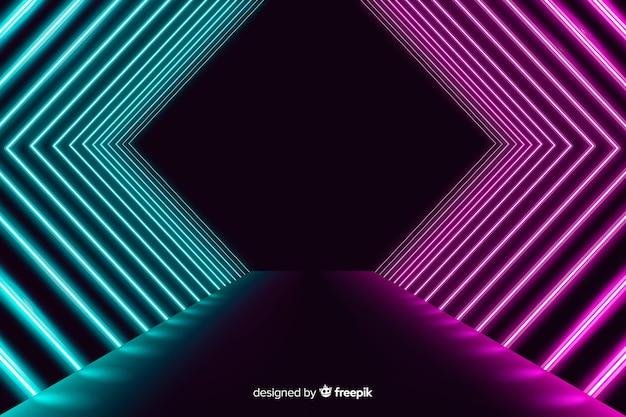 Neonlichten fase achtergrond