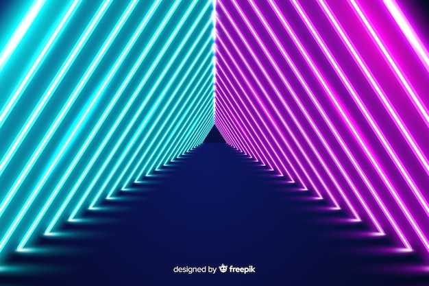 Neonlichten fase behang