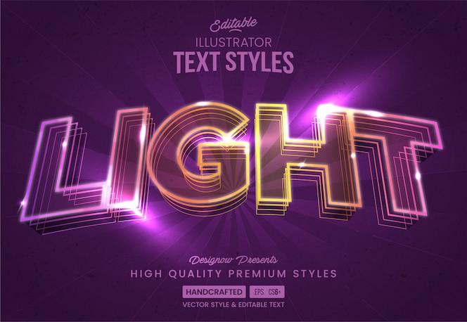Neonlichten tekststijl
