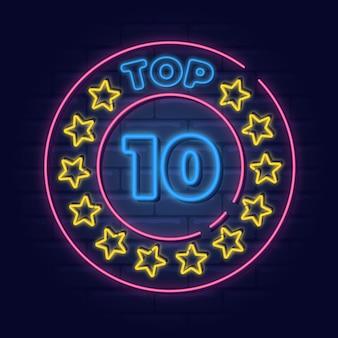 Neonlichten top 10 sjabloon