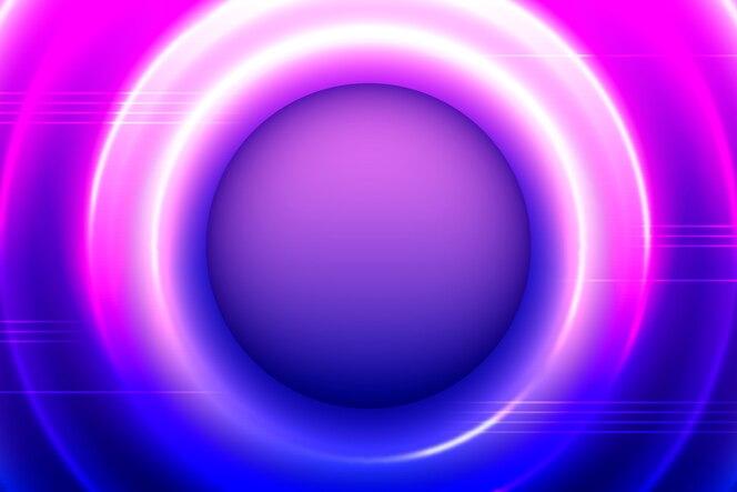 Neonlichtenachtergrond met cirkels