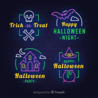 Neonlichttekens voor halloween-feest