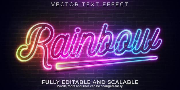 Neonlichtteksteffect, bewerkbare retro en gloeiende tekststijl