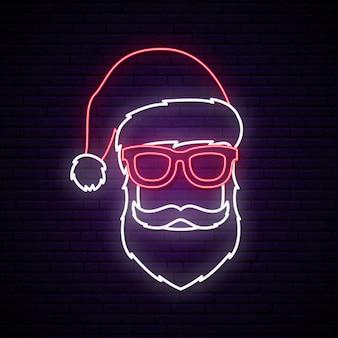 Neonreclame van de kerstman