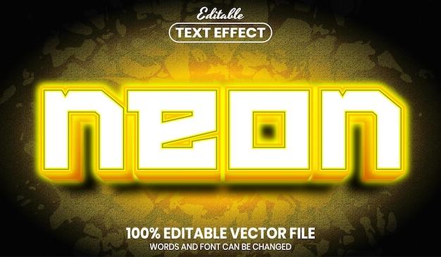 Neontekst, bewerkbaar teksteffect in lettertypestijl
