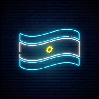 Neonvlag van argentinië