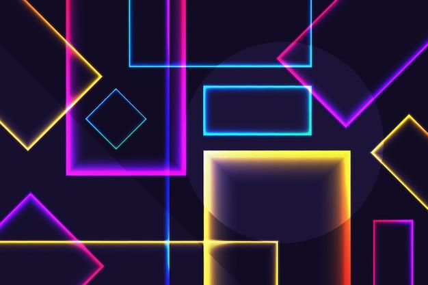 Neonvormen op donker behang