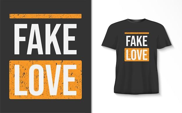 Nep liefde typografie tshirt