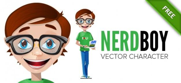 Nerd vector teken