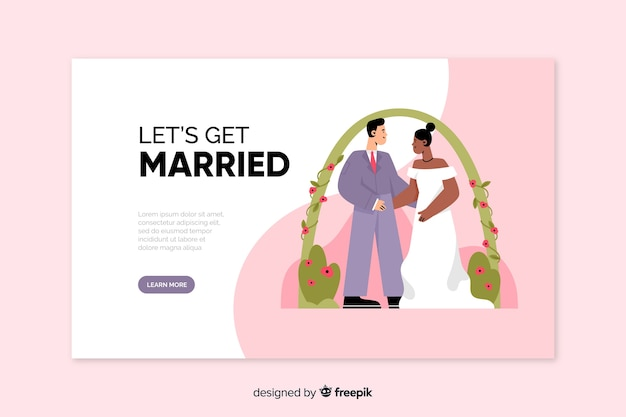 Net getrouwd bestemmingspagina sjabloon