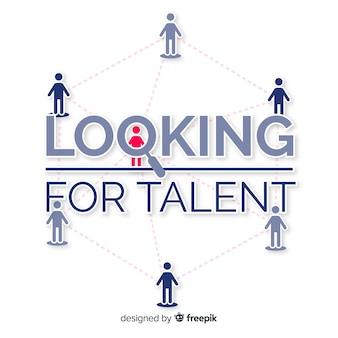 Netto kijkende talent achtergrond