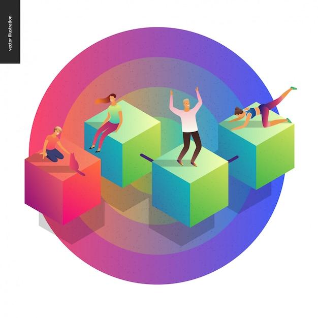 Netwerk concept vectorillustratie