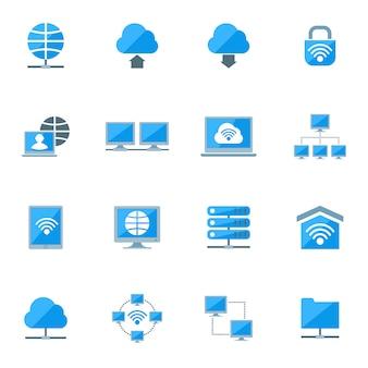 Netwerk icons set