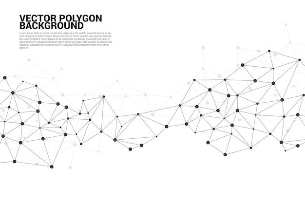 Netwerk verbindend puntveelhoekachtergrond concept van netwerk, zaken, verbinden