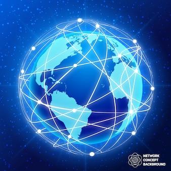 Netwerk wereld concept