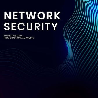 Netwerkbeveiligingstechnologie sjabloon vector met digitale achtergrond