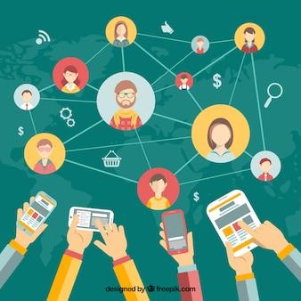 Netwerken het concept