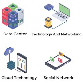 Netwerken icons set